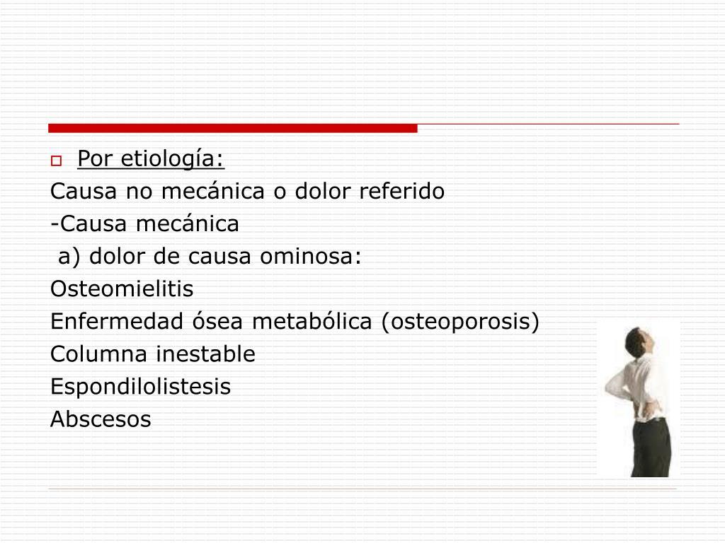 Por etiología: