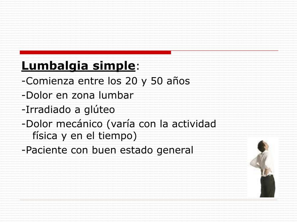 Lumbalgia simple