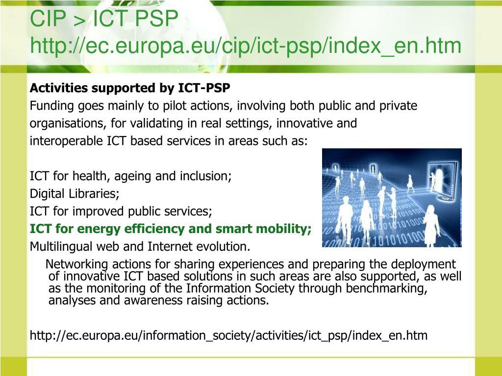 CIP > ICT PSP