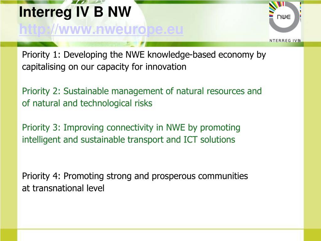 Interreg IV B NW