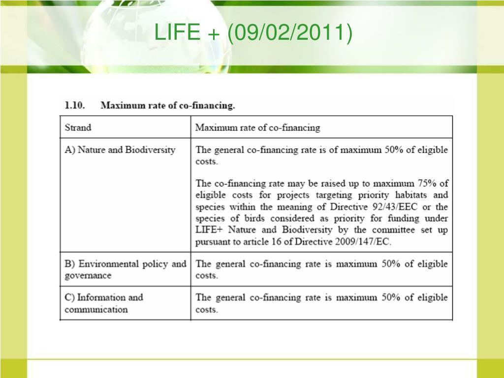 LIFE + (09/02/2011)