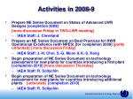 activities in 2008 930