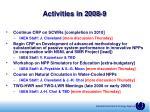 activities in 2008 932