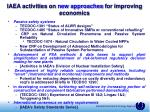 iaea activities on new approaches for improving economics37
