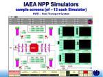 iaea npp simulators sample screens of 13 each simulator19
