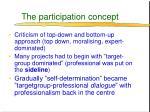 the participation concept
