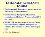 external auxillary energy