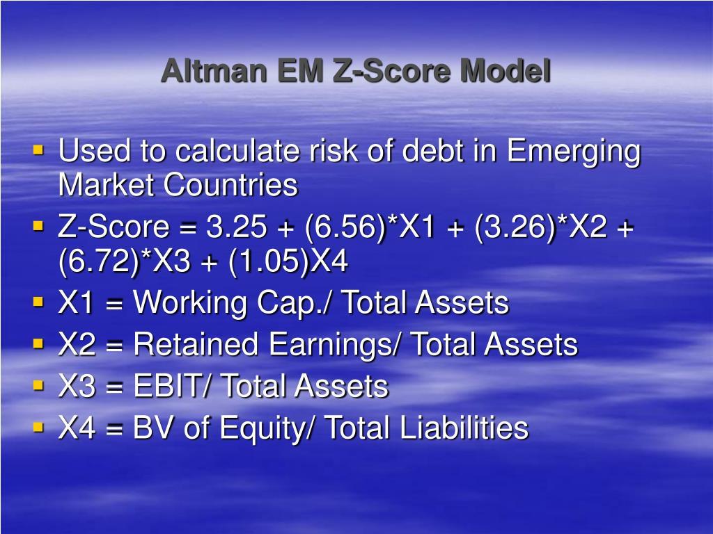 Altman EM Z-Score Model