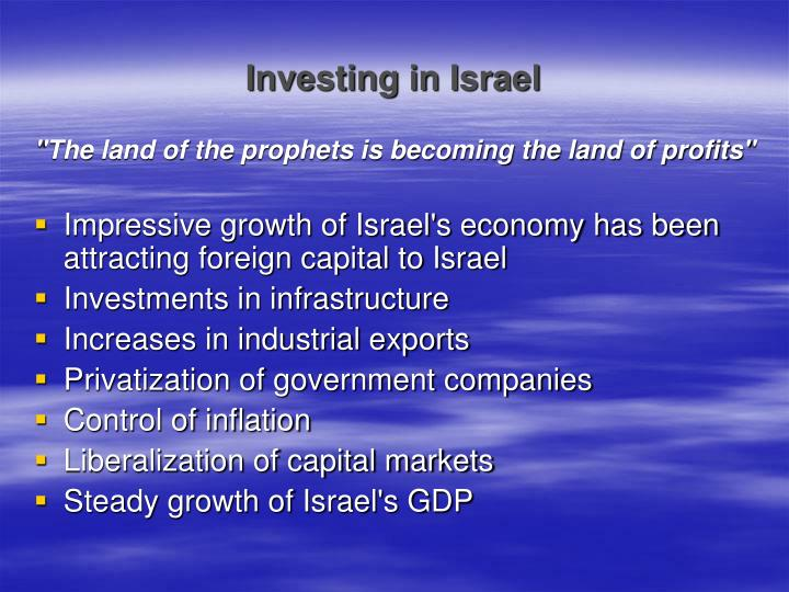 Investing in israel