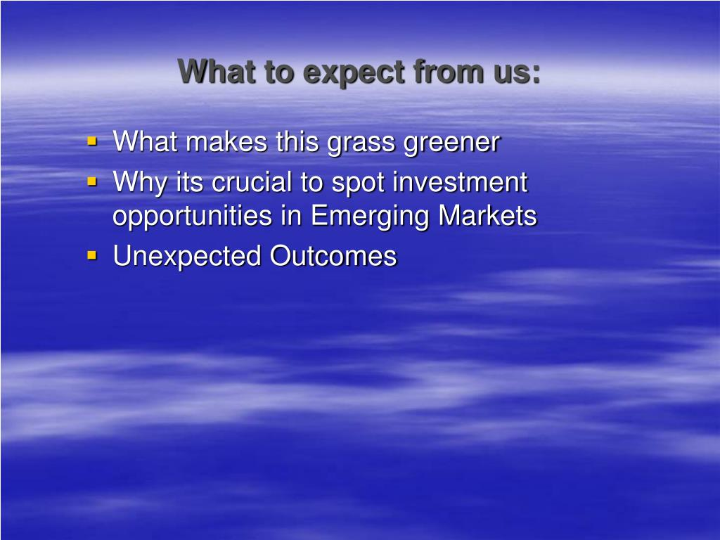 What to expect from us: