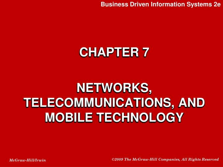 chapter 7 networks telecommunications and mobile technology n.
