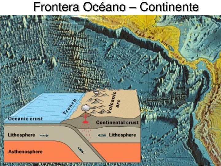 Frontera oc ano continente