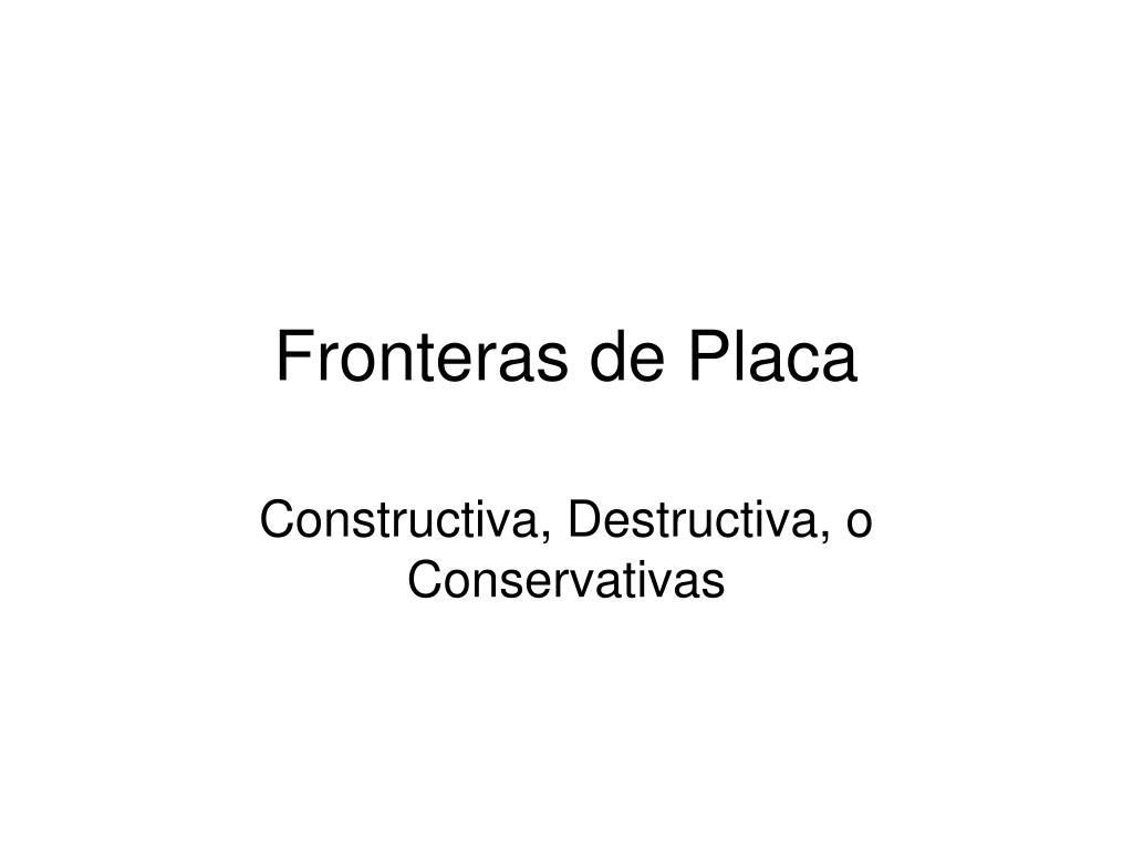 Fronteras de Placa