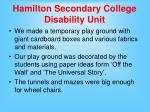 hamilton secondary college disability unit10