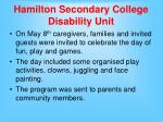 hamilton secondary college disability unit11