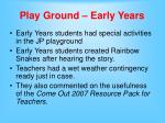 play ground early years