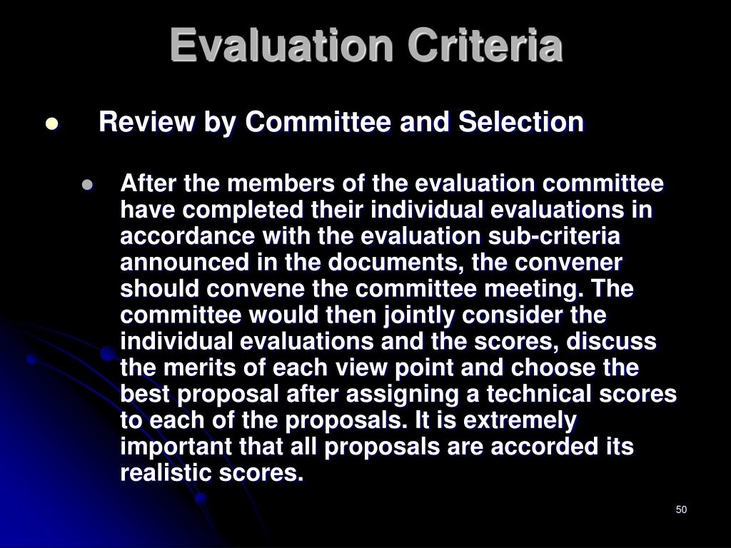 Review by Committee and Selection