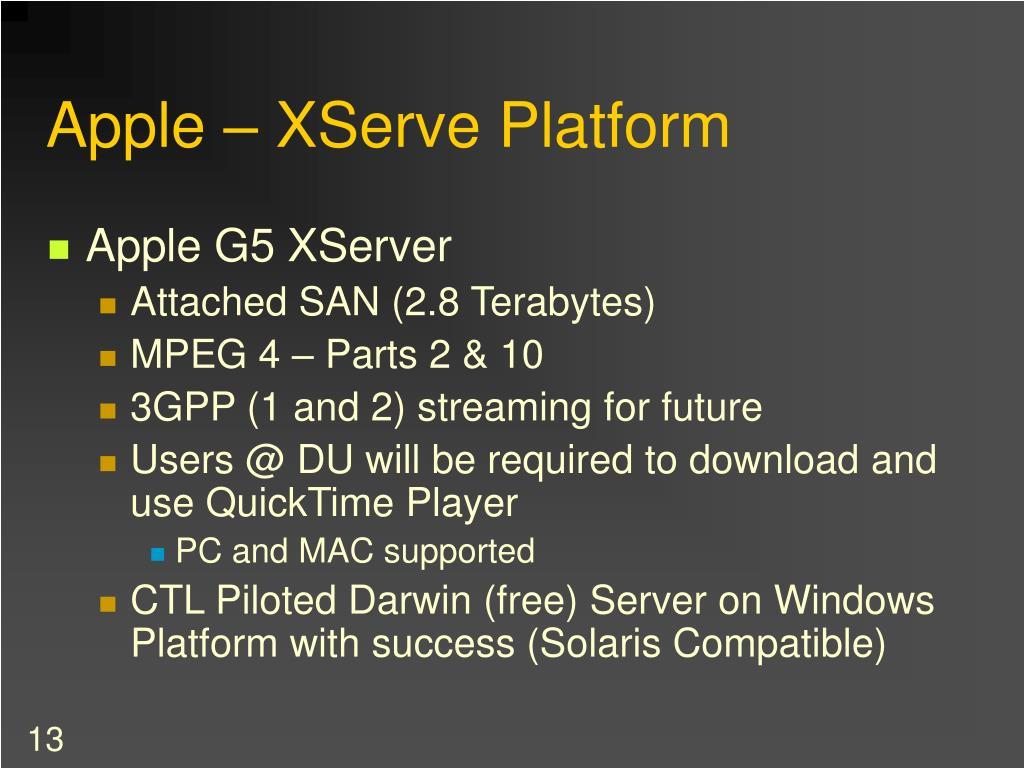 Apple – XServe Platform