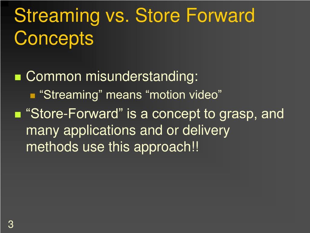 Streaming vs. Store Forward