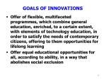 goals of innovations