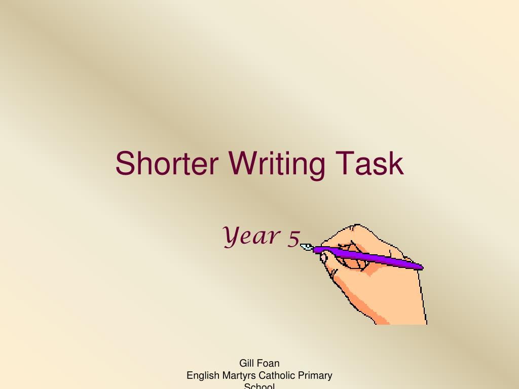 shorter writing task l.