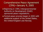 comprehensive peace agreement cpa january 9 2005