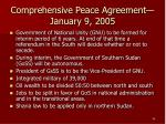 comprehensive peace agreement january 9 2005