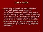 darfur 1990s