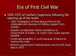 era of first civil war