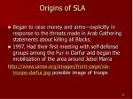 origins of sla
