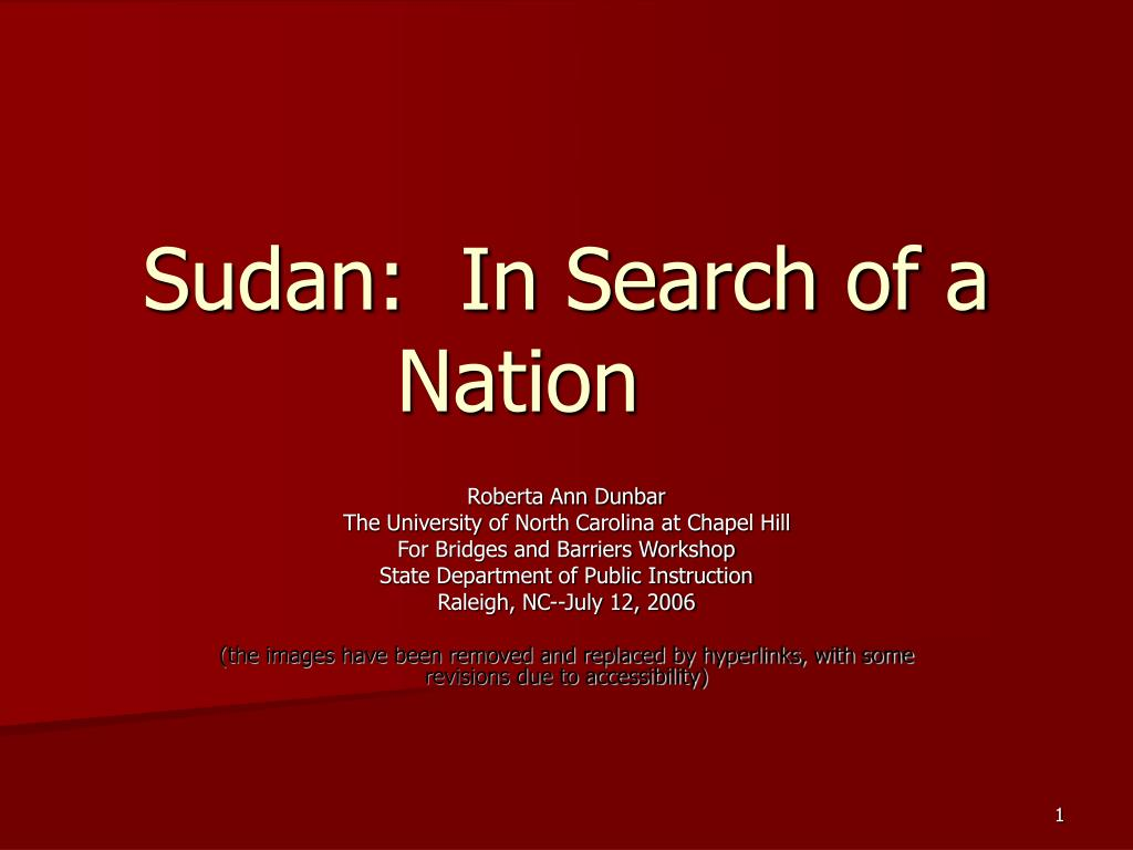 sudan in search of a nation l.