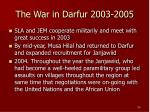 the war in darfur 2003 2005