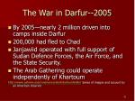 the war in darfur 2005