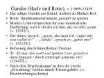 gandin harfe und rotte v 13099 13459