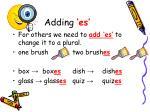 adding es
