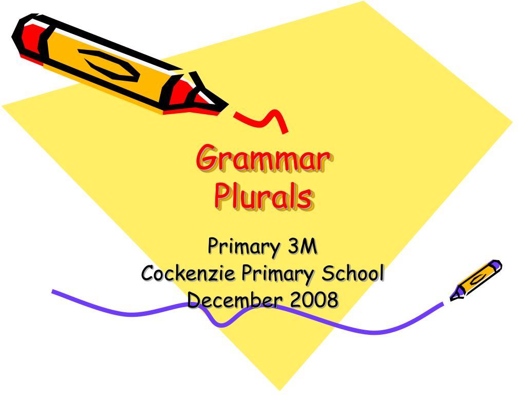 grammar plurals l.