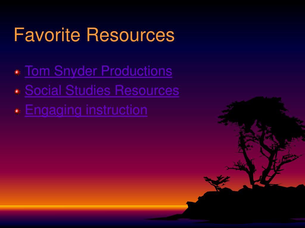 Favorite Resources