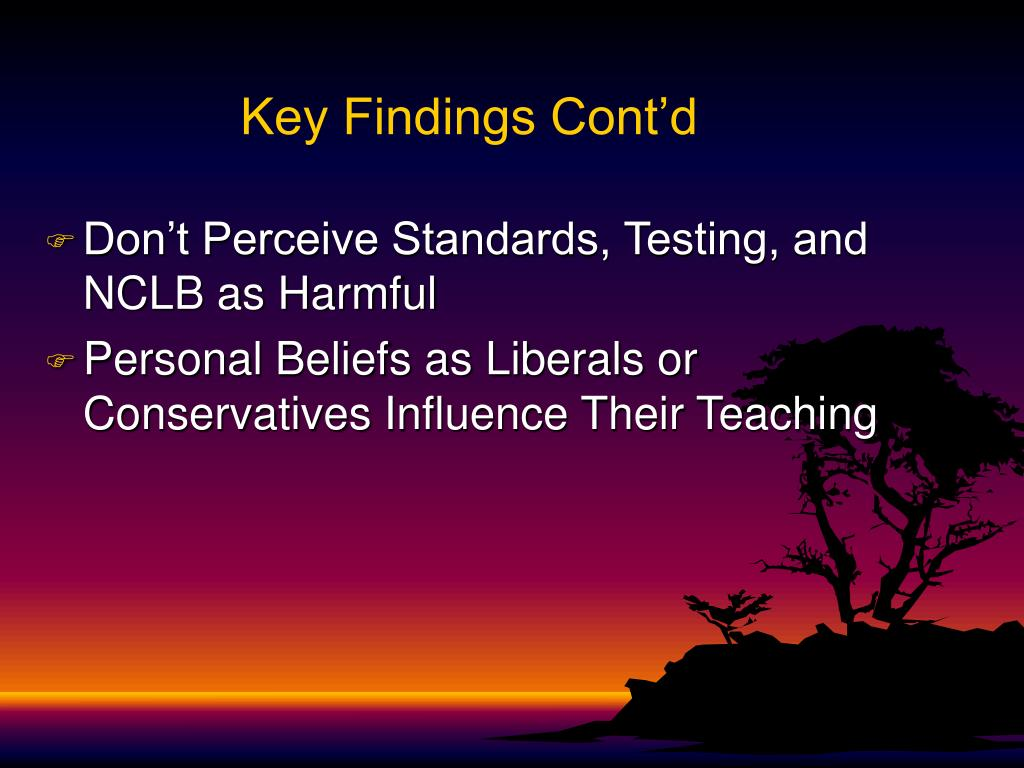 Key Findings Cont'd