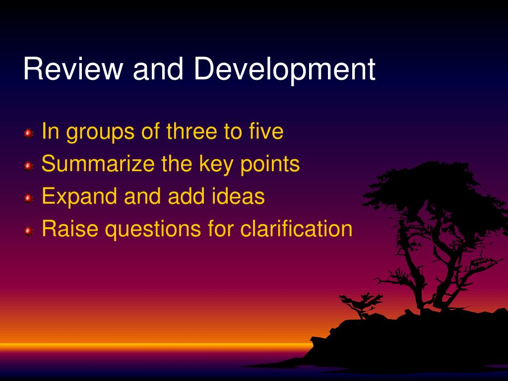 Review and Development