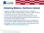 debating matters northern ireland