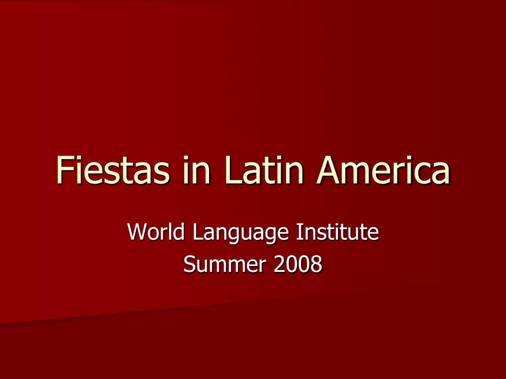 fiestas in latin america l.