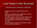 local fiestas in new brunswick