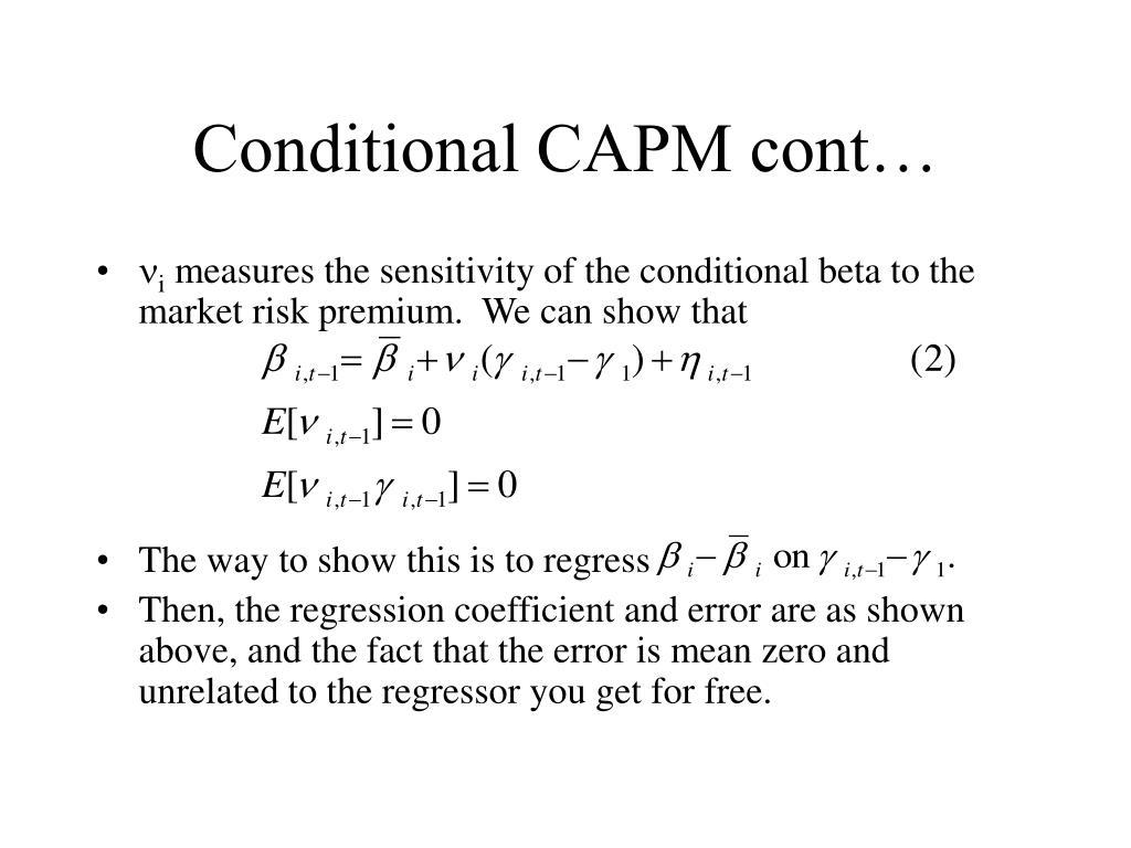 Conditional CAPM cont…