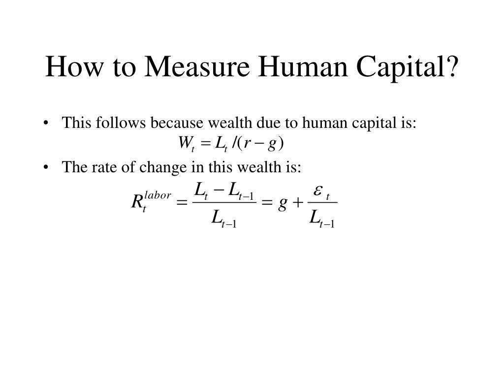 How to Measure Human Capital?