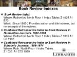 book review indexes