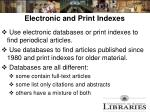 electronic and print indexes