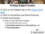 finding subject guides