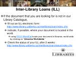 inter library loans ill