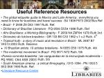 useful reference resources