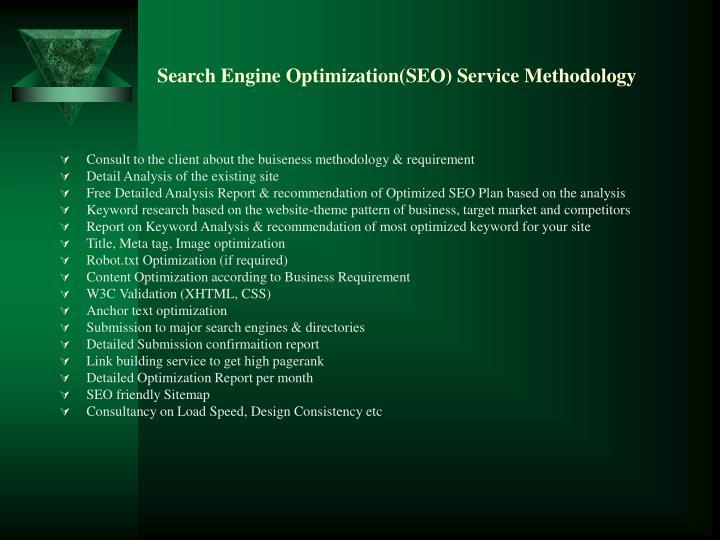 Search engine optimization seo service methodology